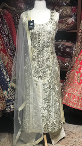 Ivory Size 38 Straight Suit