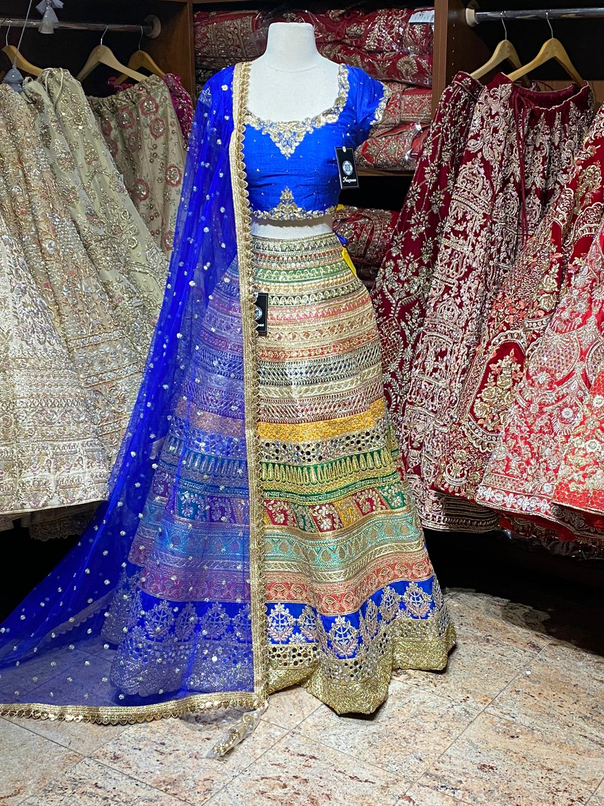Multicolor Size 38 Party Wear Lehenga