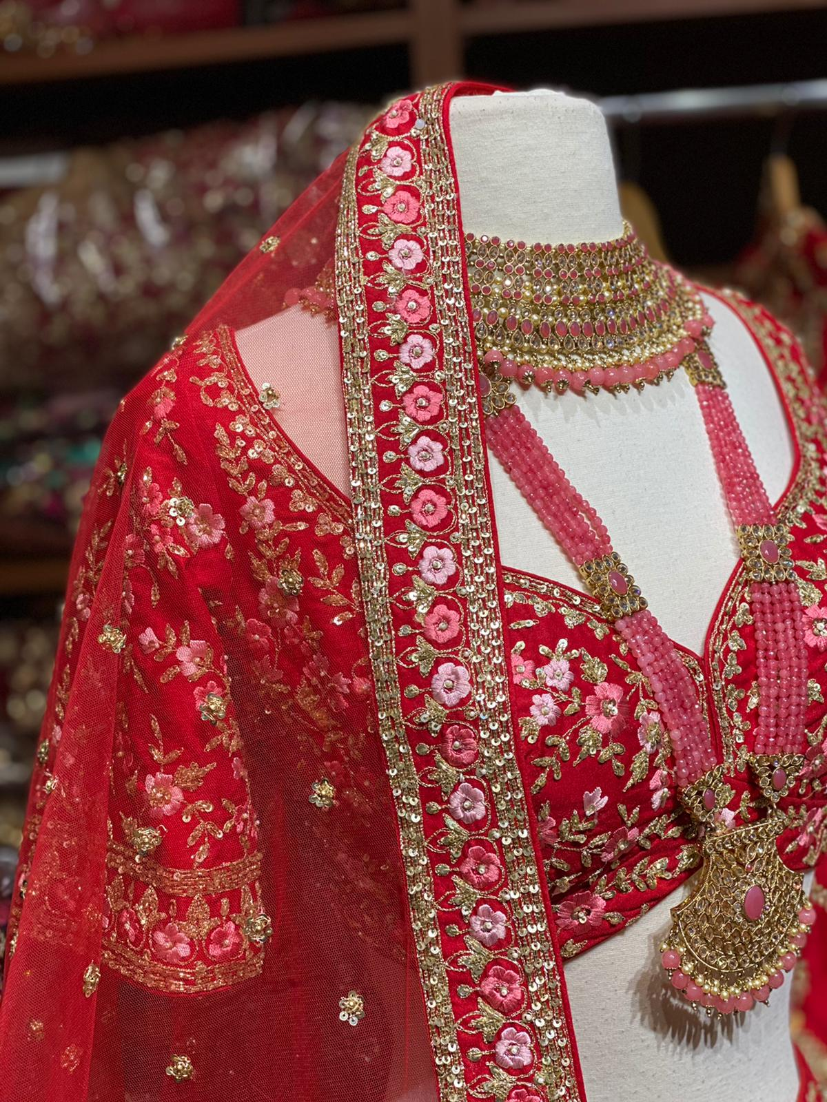 Radiant Red Bridal Wear Lehenga BWL- 096