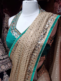 Tortilla Brown Saree PWS-034