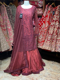 Sangria Red Party Wear Suit Collection PWS-049