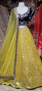 Metallic Yellow Party Wear Lehenga PWL-023