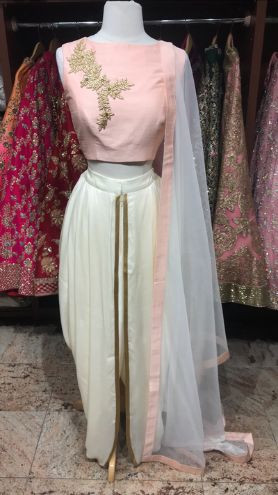 Blush Ivory Dhoti Suit