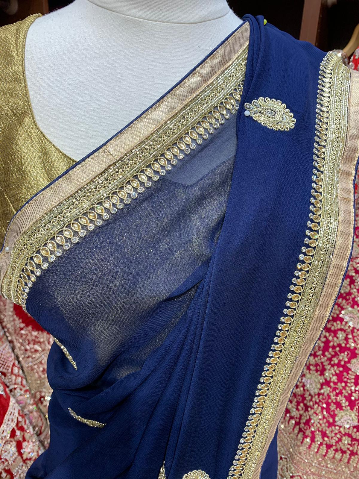 Regal Blue Saree PWS-080