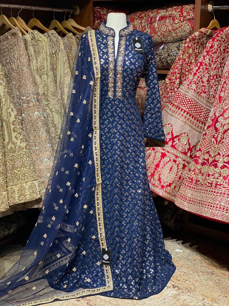 Navy Blue XXL Anarkali PWA-003