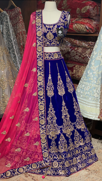Royal Blue Size 38 Bridal Lehenga