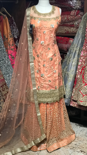 Net Size 38 Special Sharara Suit