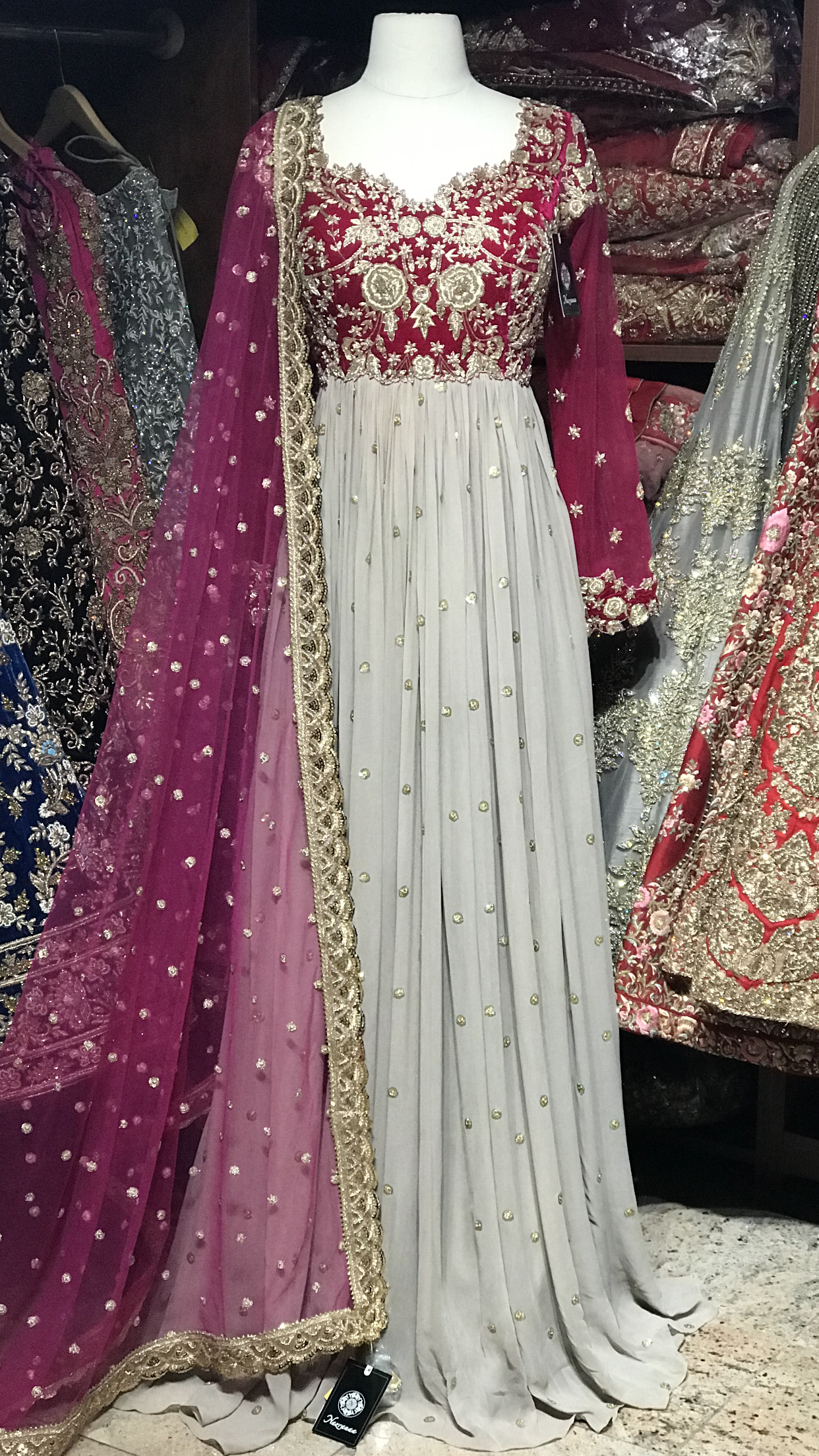 Pink Size 38 Pleated Anarkali