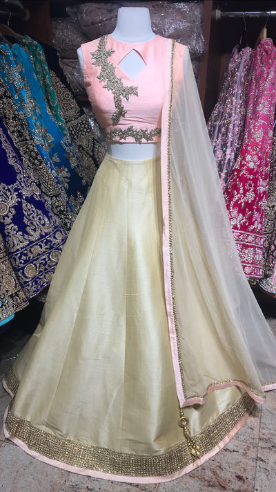 Blush Gold Bridesmaids Lehenga