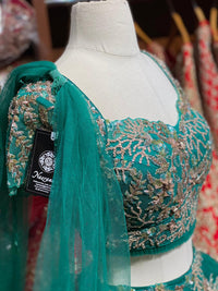 Teal Green Party Wear Lehenga PWL-143