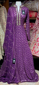 Violet Purple XXL Anarkali PWA-017