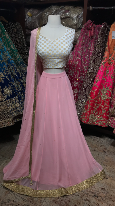 Ivory Blush Bridesmaids Lehenga