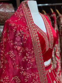 Carmine Red Bridal Wear Lehenga BWL-072