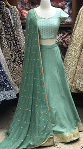 Mint Bridesmaid Lehenga