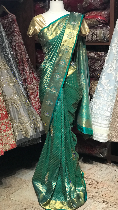 Green Pure Silk Kanjeevaram Saree
