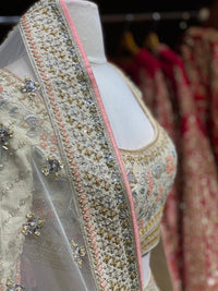 Pearl White Bridal Wear Lehenga BWL-082