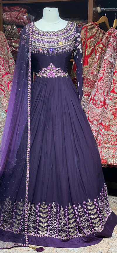 Purple Size 38 Anarkali