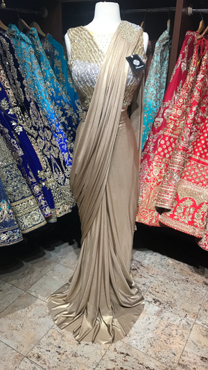 Gold Draped Saree