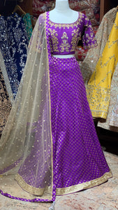 Purple bridesmaid lehenga