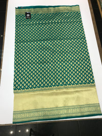 Teal Green Art Banarasi Saree