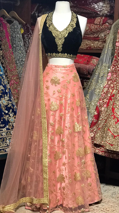 The Sinister Sin Lehenga-PW41