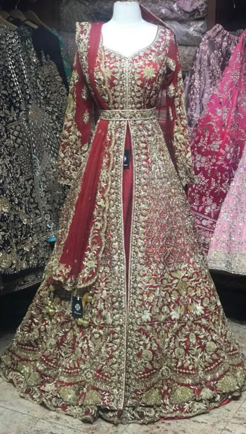 Red Custom Made Bridal Lacha