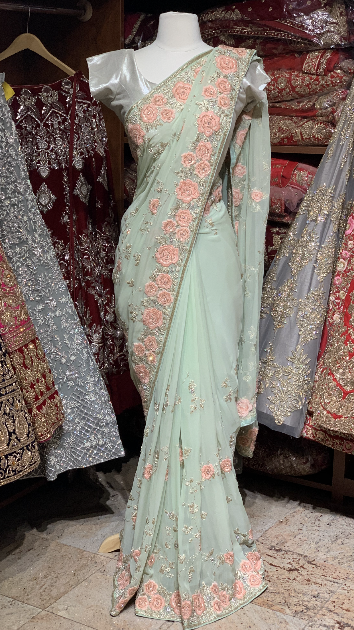 Pastel Georgette Saree