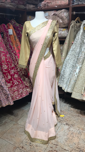 Blush Bridesmaids Saree