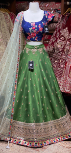 Emerald Green Size 38 Party Wear Lehenga