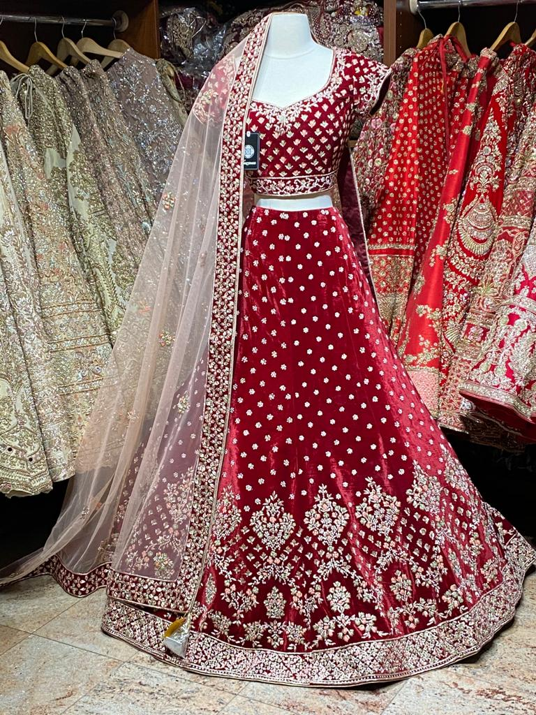 Currant Red Bridal Wear Lehenga BWL-002