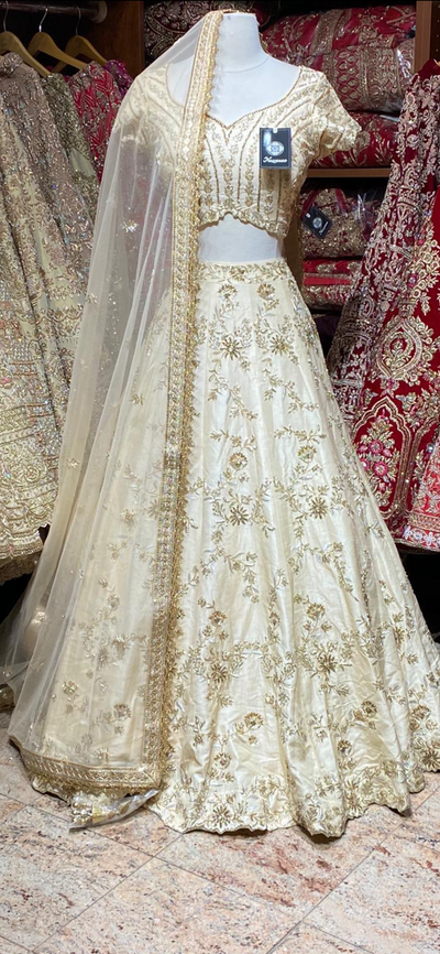 Honeybee Cream Size 38 Bridal Wear Lehenga
