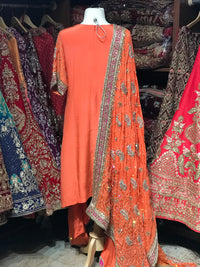 Shaded Orange Size 38 Punjabi Suit