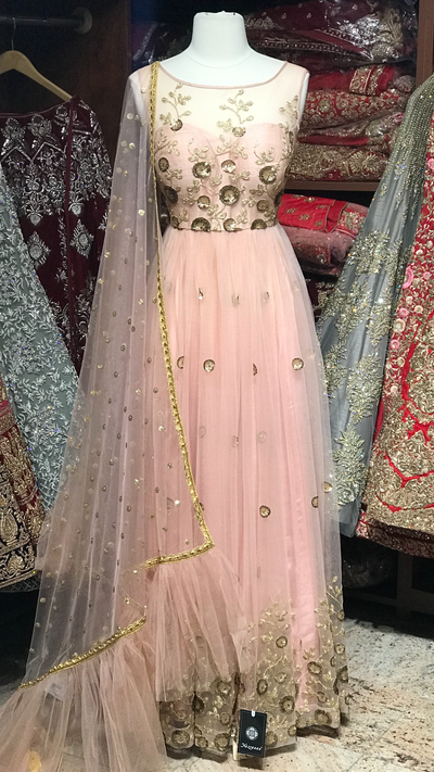 Blush Size 38 Pleated Anarkali