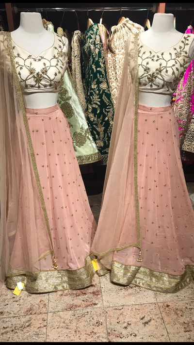 Blush Ivory Bridesmaids Lehenga