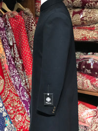 Black Asymetric Sherwani