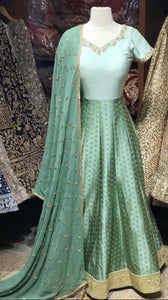Mint Bridesmaid Anarkali