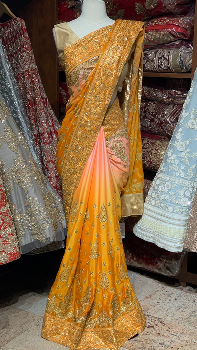 Ombré Georgette Saree