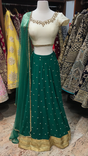 Green Ivory Bridesmaids Lehenga