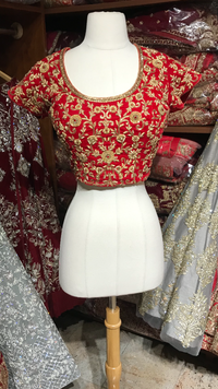 Red Size 38 Bridal Blouse