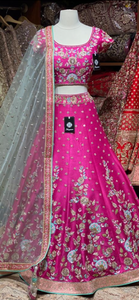 Fuchsia Pink Party Wear Lehenga PWL- 025