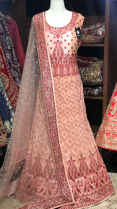 Pink XL Kashmiri Embroidery Anarkali