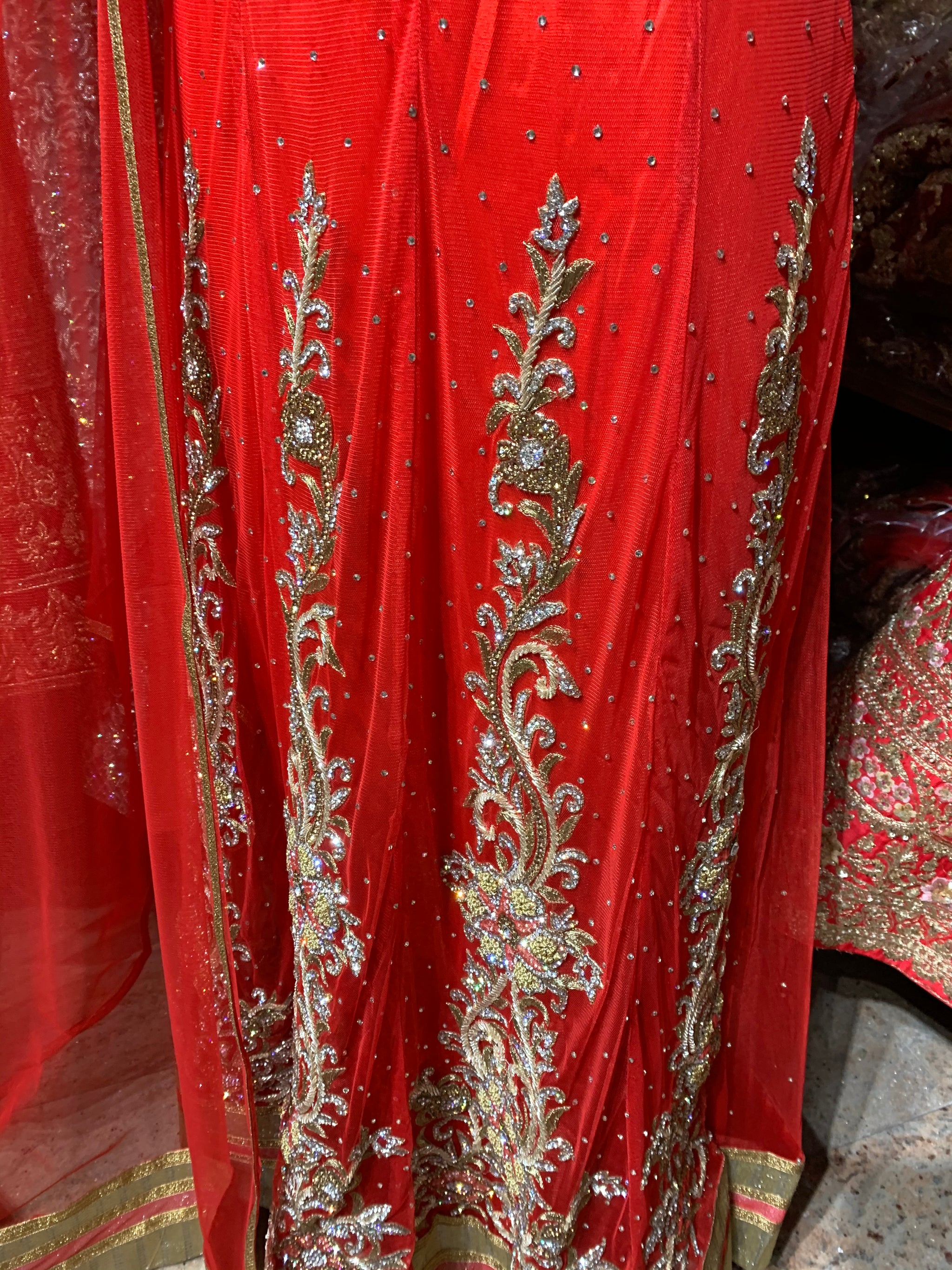 Red Size 38 Anarkali