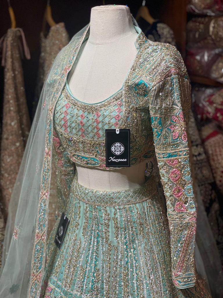 Celadon Green Bridal Wear Lehenga BWL-075