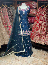 Burgundy & Navy Blue Party Wear Suit Collection PWS-039