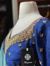 Regal Blue Party Wear Suit Collection PWS-044