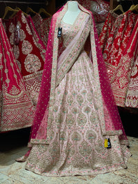 Blush Pink Bridal Wear Lehenga BWL- 110