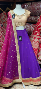 Indigo Purple Party Wear Lehenga PWL-119