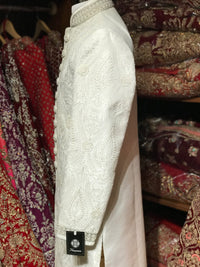 White Embroidery Sherwani