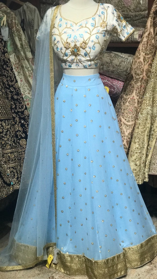 Baby Blue Bridesmaids Lehenga