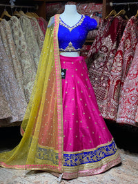 Hot Pink Size 38 Party Wear Lehenga